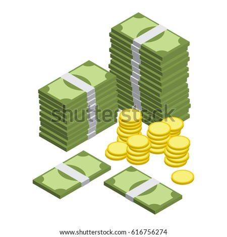 money isometric vector