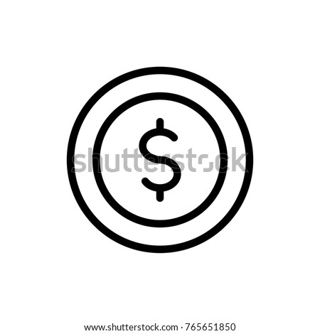 Money line icon. High quality black outline logo for web site design and mobile apps. Vector illustration on a white background.