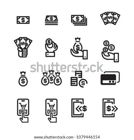 money line icon set 2