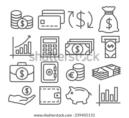 Money Line Icons
