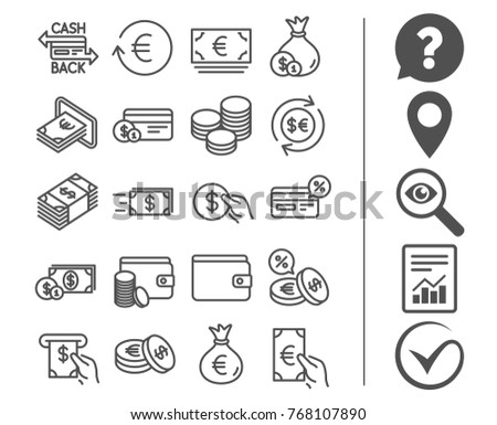 Free Currency Symbol Line Icon Vector Download Free Vector Art