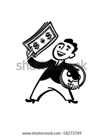 Money Man - Retro Clip Art