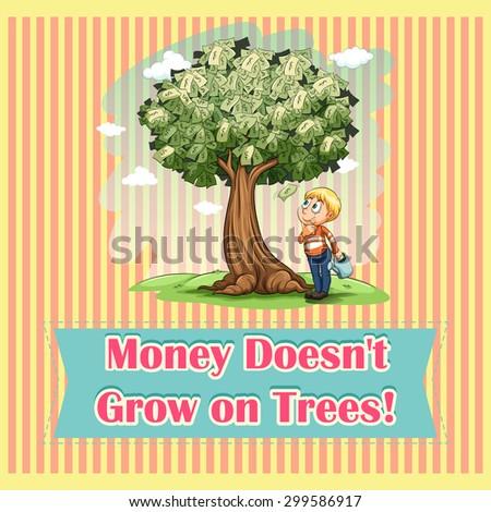Money on trees idiom illustration Stock photo ©
