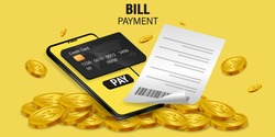 Money online on mobile phone, wallet, and credit card online Online spending Concept of cryptocurrency technology. Online shopping spending And digital money.