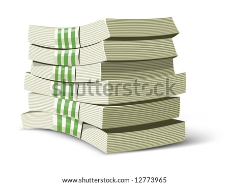 money packs vector illustration for banking business isolated