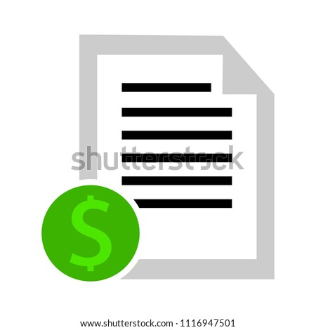 money page tax. bill document icon - invoice symbol - office file format