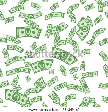 Money pattern. Cash background. from dollars ornament
