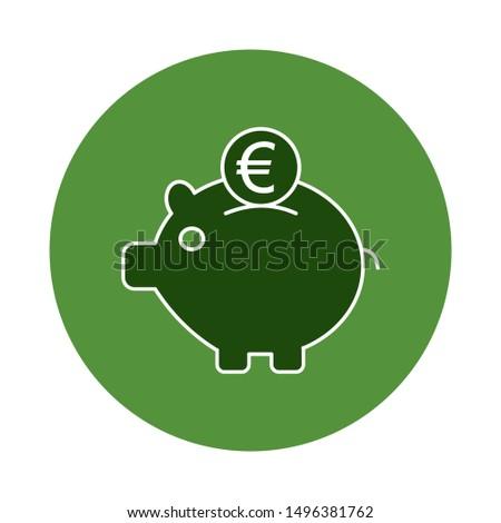 money saving concept with euro