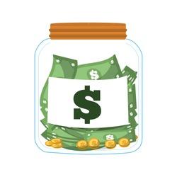 money saving money glass vector illustration eps 10