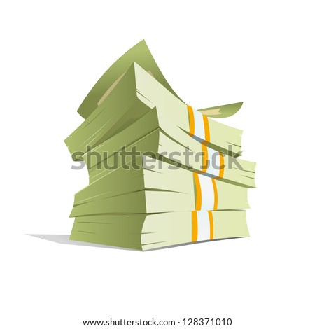 money stack vector illustration....
