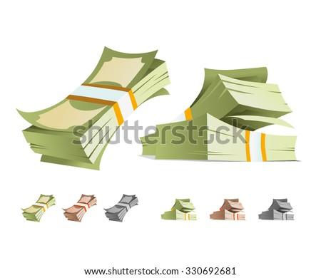 money stack vector illustration