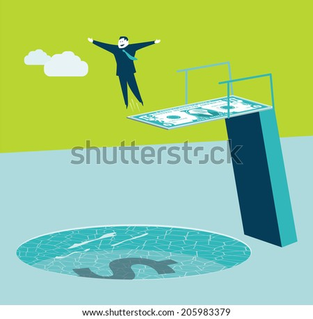 money swimming pool