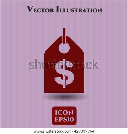 Money Tag vector icon