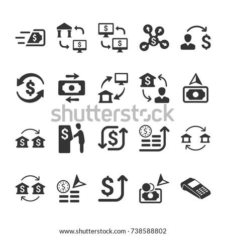 Money Transaction Icons Foto stock ©