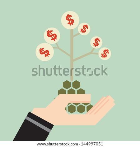 Money Tree on hand