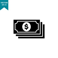 money vector icon in trendy flat style