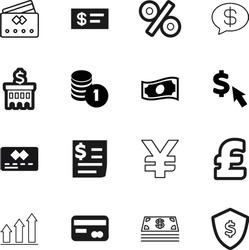 money vector icon set such as: outline, debt, image, forum, lines, forecast, discount, round, conversation, increase, safe, messages, guard, statistic, building, sms, art, search, sales, personal