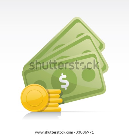 Money. Vector in Adobe Illustrator EPS for multiple applications.