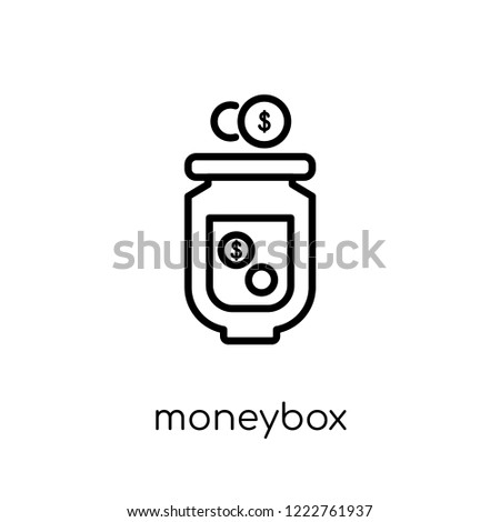 moneybox icon. Trendy modern flat linear vector moneybox icon on white background from thin line Payment collection, outline vector illustration
