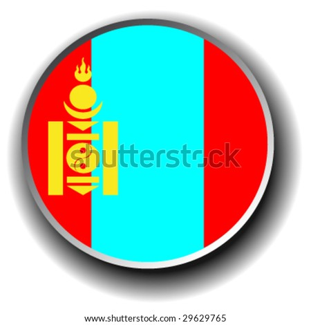 mongolia flag icon   vector