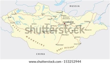 mongolia road map