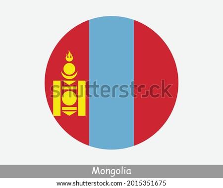 mongolia round circle flag