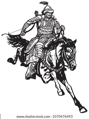mongolian archer warrior on a