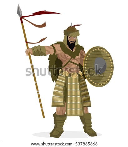 mongolian brave warrior with