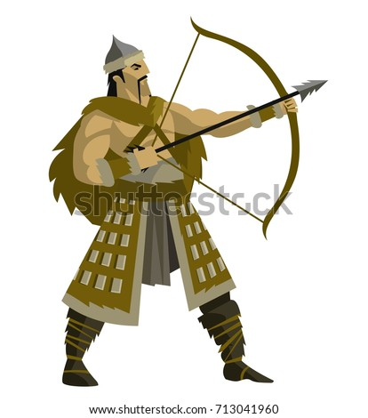 mongolian warrior archer with