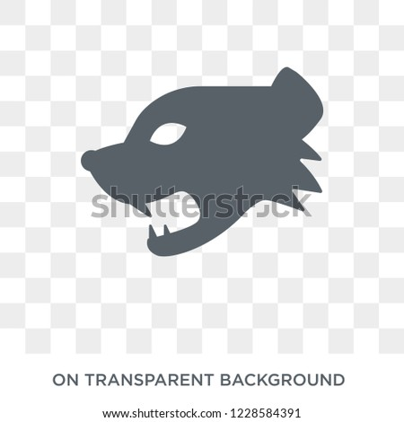 Mongoose icon. Trendy flat vector Mongoose icon on transparent background from animals  collection.