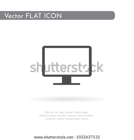 Monitor icon. For web, business, finance and communication. Vector Illustration.
