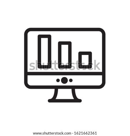 Monitor Icon. Monitor vector graphics