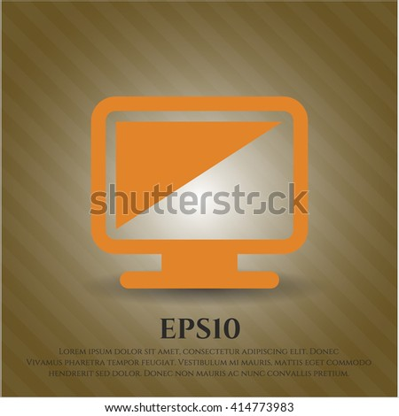 Monitor icon or symbol
