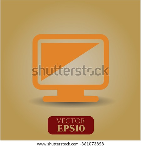 Monitor icon vector illustration