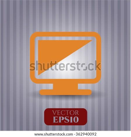 Monitor icon vector illustration