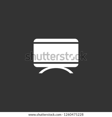 monitor icon vector. monitor sign on black background. monitor icon for web and app