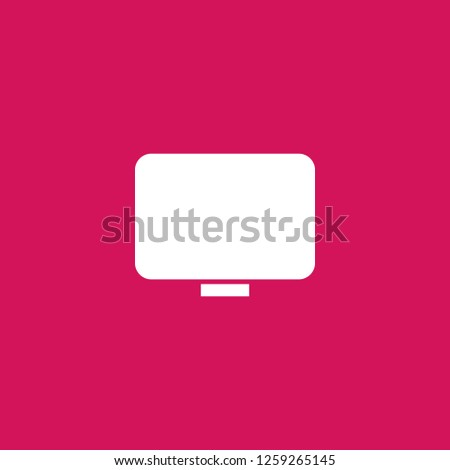 monitor icon vector. monitor sign on pink background. monitor icon for web and app