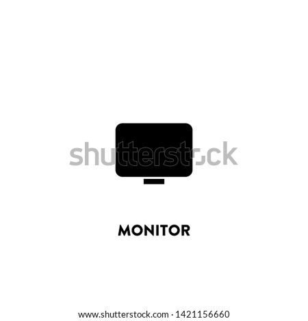 monitor icon vector. monitor sign on white background. monitor icon for web and app