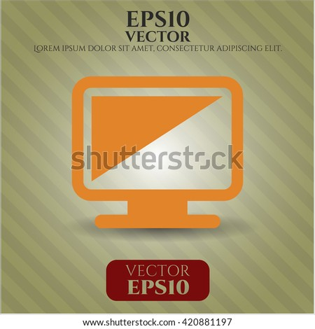 monitor icon vector symbol flat eps jpg app web concept website