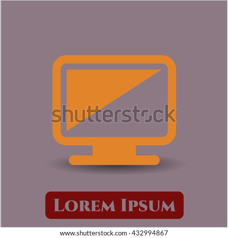 monitor icon vector symbol flat eps jpg app web concept website