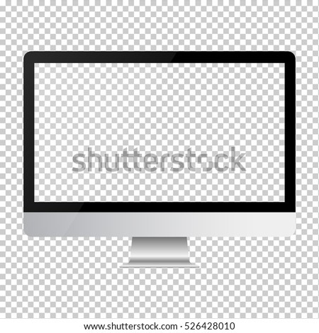 monitor imac style for PC on transparent background
