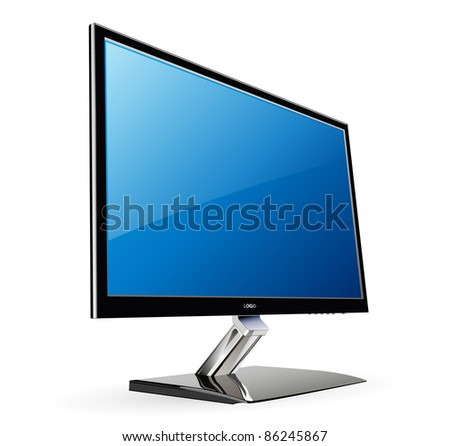 Monitor lcd, led - vector illustration.