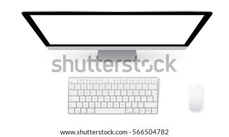 monitor pc with keyboard and