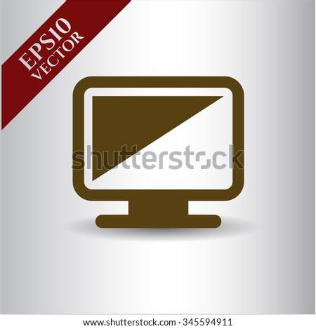 Monitor vector icon
