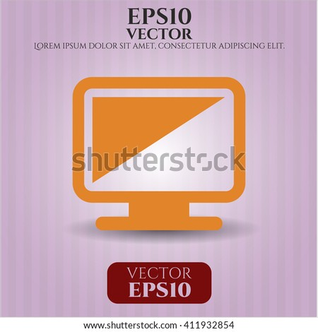 Monitor vector icon