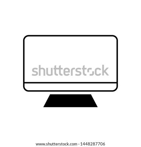 monitor vector icon. Monitor illustration symbol.