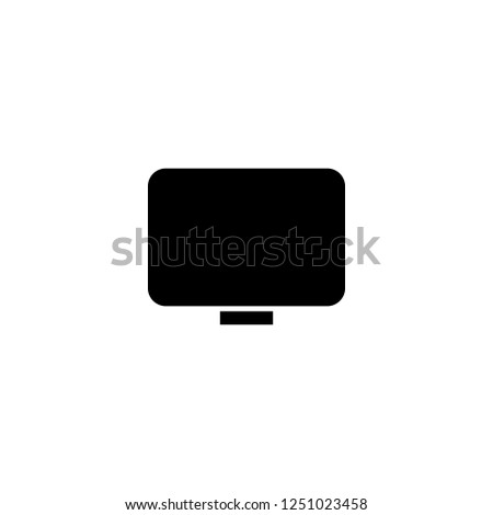 monitor vector icon. monitor sign on white background. monitor icon for web and app