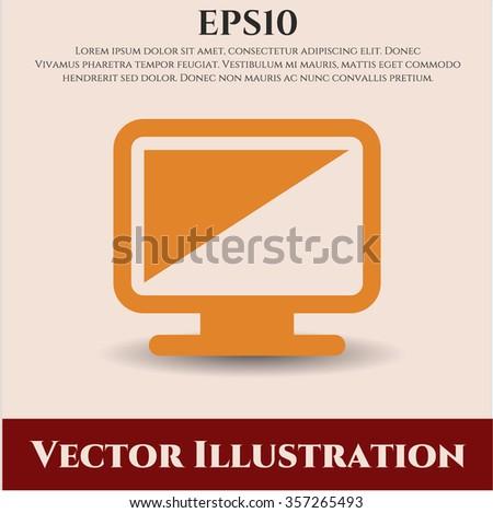 Monitor vector icon or symbol