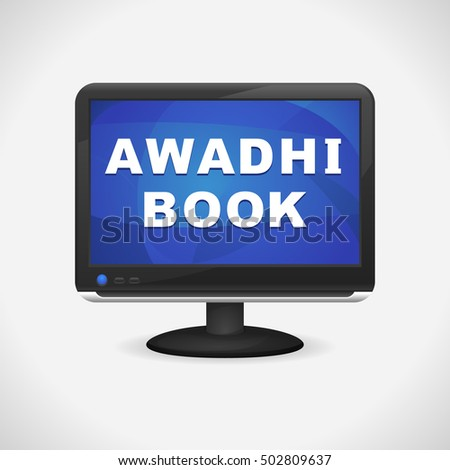 monitor with awadhi book on