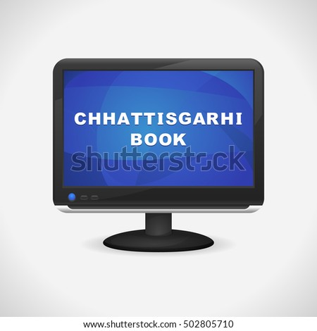 monitor with chhattisgarhi book